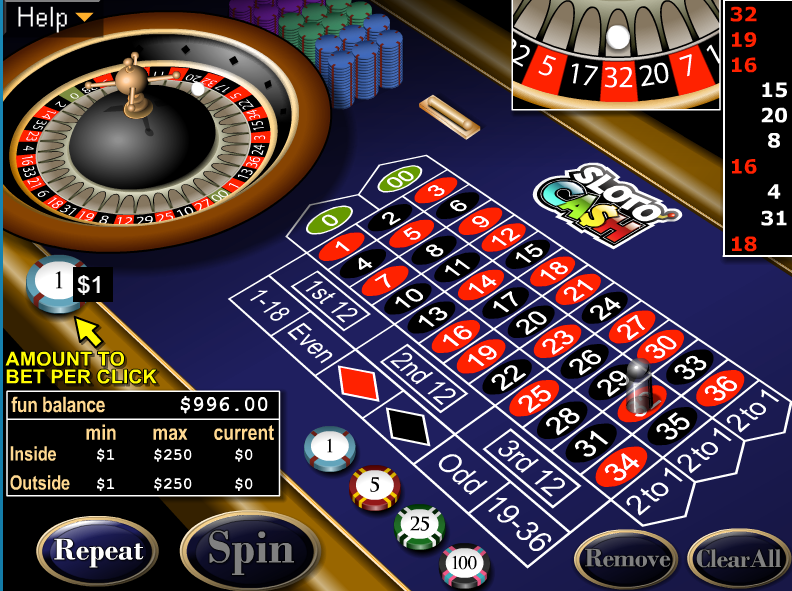 American Roulette Table Layout on SlotoCash