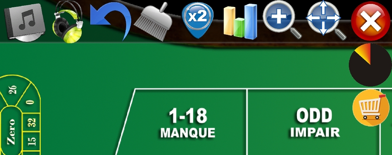FRENCH Roulette FREE - App Controls