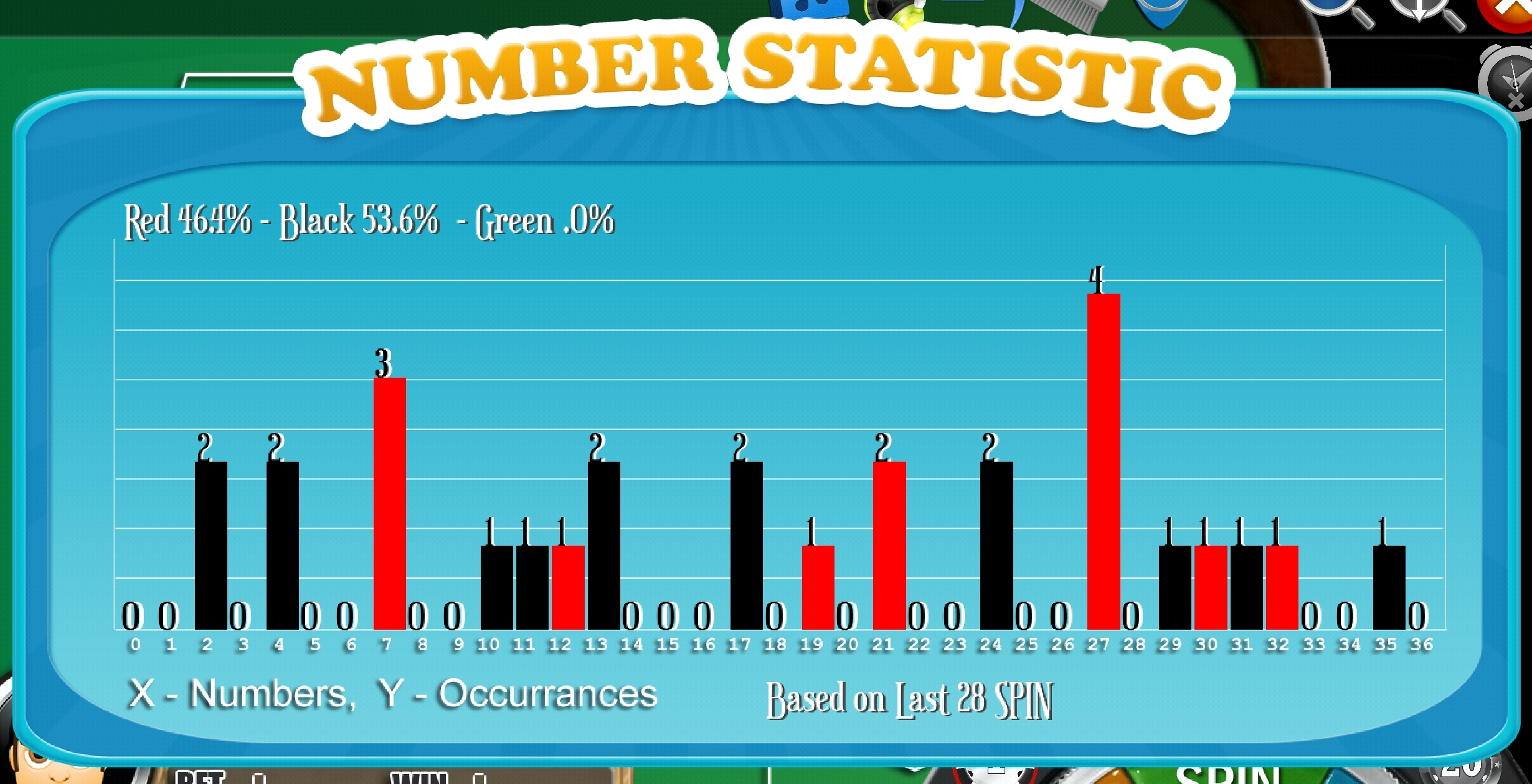 FRENCH Roulette FREE - App Number Statistic