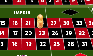 RedRake Gaming Winning Marker in French Roulette - Click here to check our post as to where you can play for real