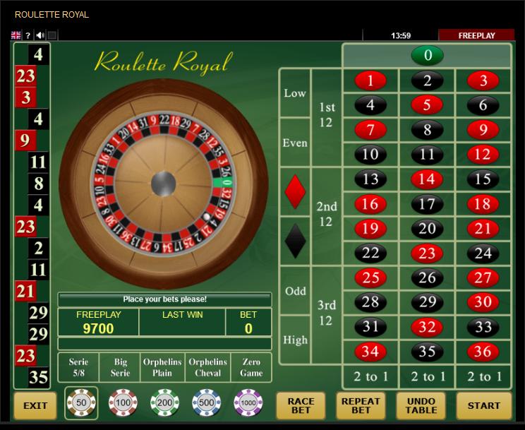 Amanet Amatic Roulette Software Roulette Royal Table