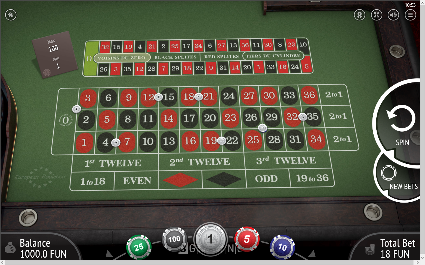 BGaming European Roulette with Special Bets