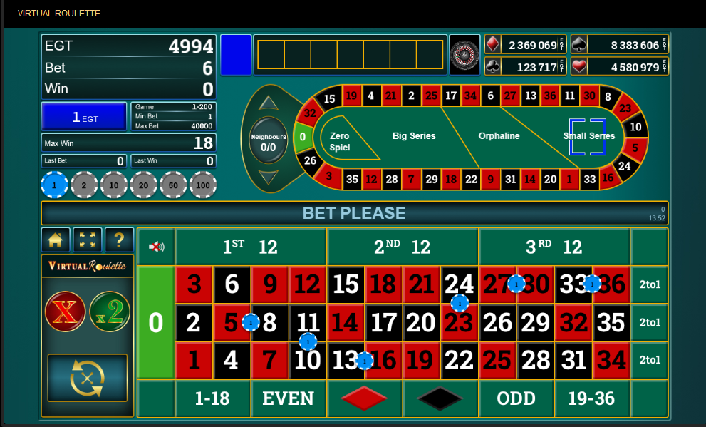 Egt Roulette Software Virtual Roulette with Special Bets