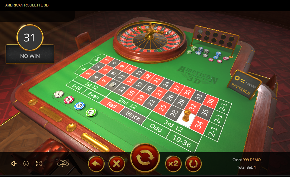 EvoPlay Entertainment Roulette Software American Roulette 3D