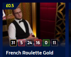 French Roulette Gold at William Hill Casino