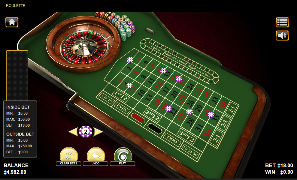 Habenero Roulette Software with Special Bets