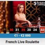 Leo Vegas CasinooffersLive Dealer French Roulette