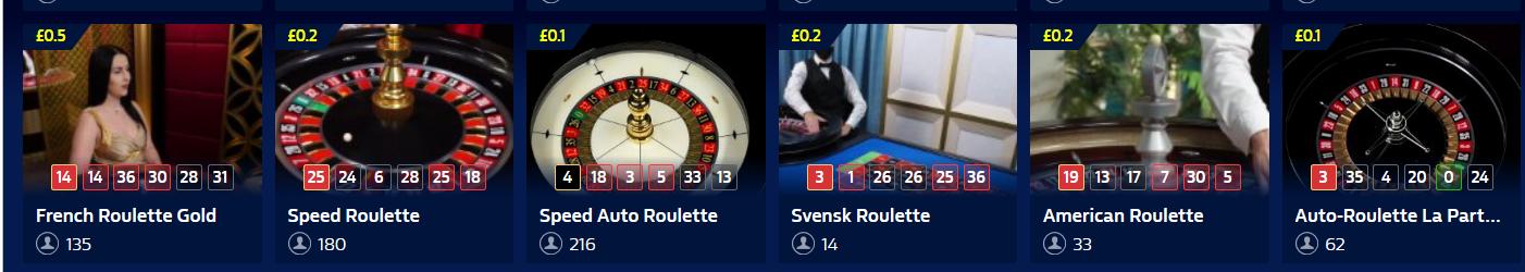 Live Dealer Roulette Games at William Hill Casino