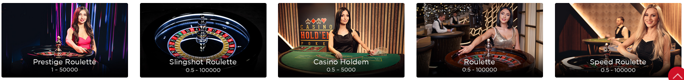 Live Dealer Roulette Games at Mansion Casino