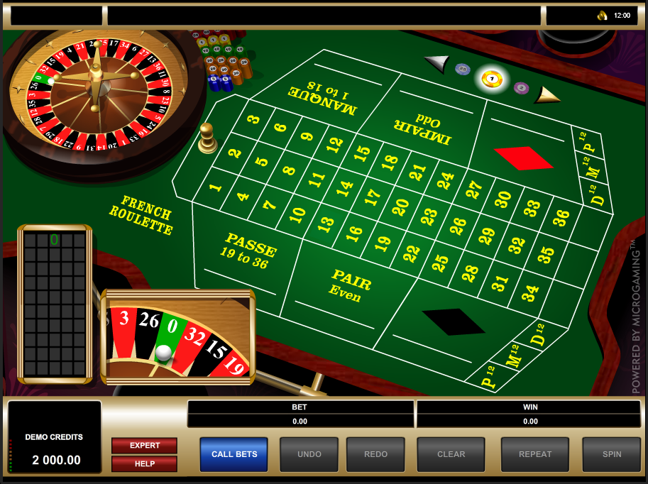 MicroGaming Roulette Software French Roulette