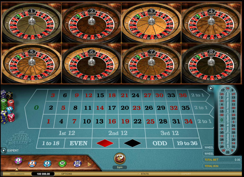 Multi-Wheel Roulette Gold with Special Bets
