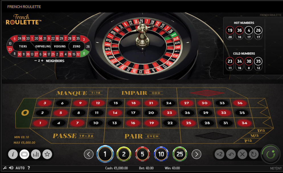 NetEnt Roulette Software French Roulette