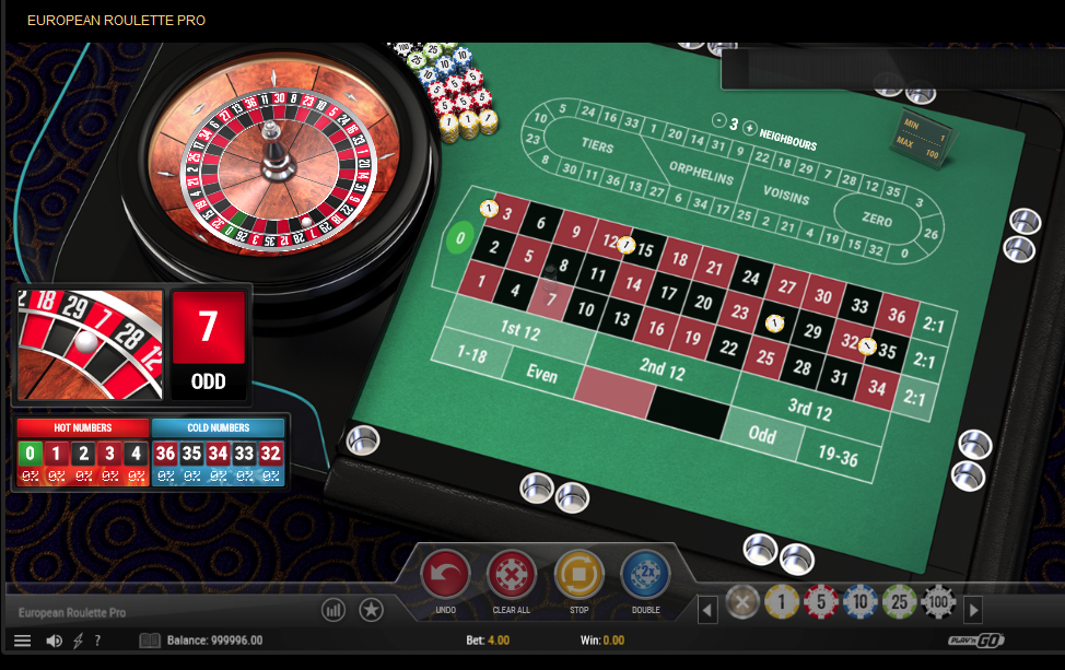 Play N'Go Roulette Software European Roulette Pro with Special Bets