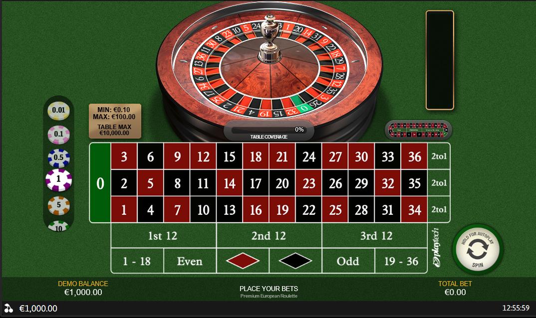 PlayTech Premium European Roulette