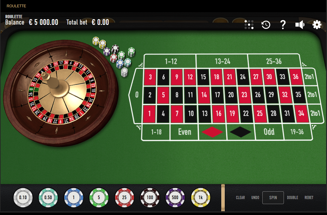 Relax Gaming Roulette Software European Roulette