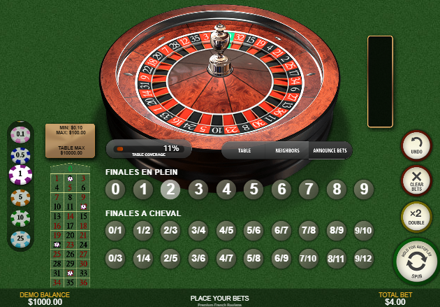 Roulette Simulator - French Roulette Announce Bets