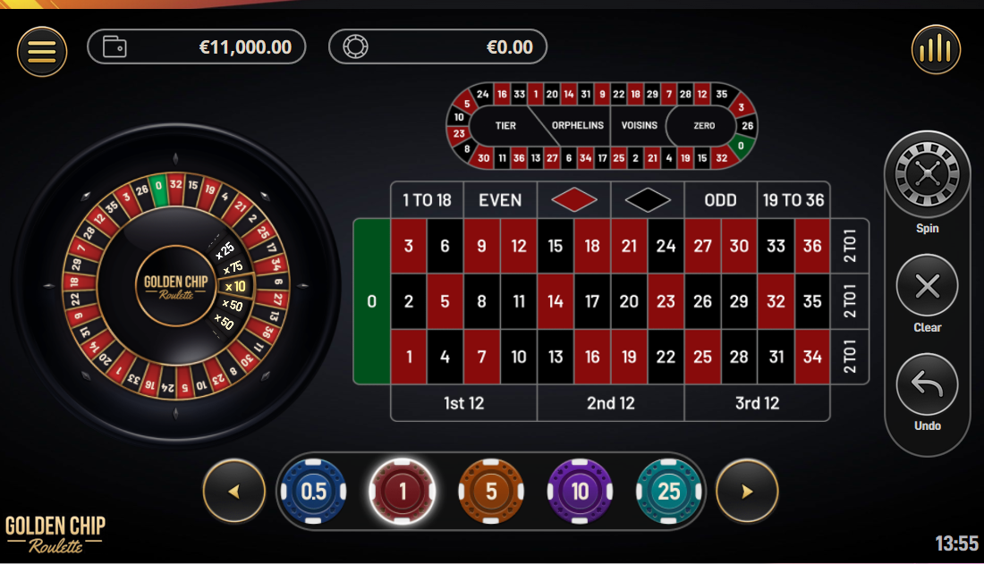 Yggdrasil Golden Chip Roulette with Special Bets Features